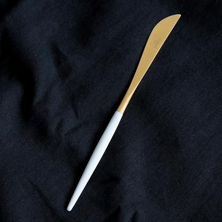 クチポール GOA ゴア ホワイト ゴールド GO03GW テーブルナイフ カトラリー ナイフ ディナー ステンレス キッチン雑