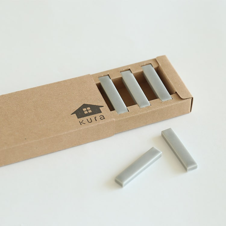 Kobi コビ 箸置き 5本セット kura クラ 箸置 セット 磁器 シンプル グレー キッチン雑貨 キッチン 雑貨 おしゃれ かわ