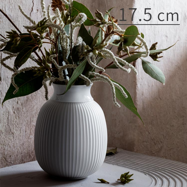 花瓶 リュンビューカーブベース Lyngby Curve Vase 17.5cm Lyngby Porcelaen リュンビュー ポーセリン フラワー