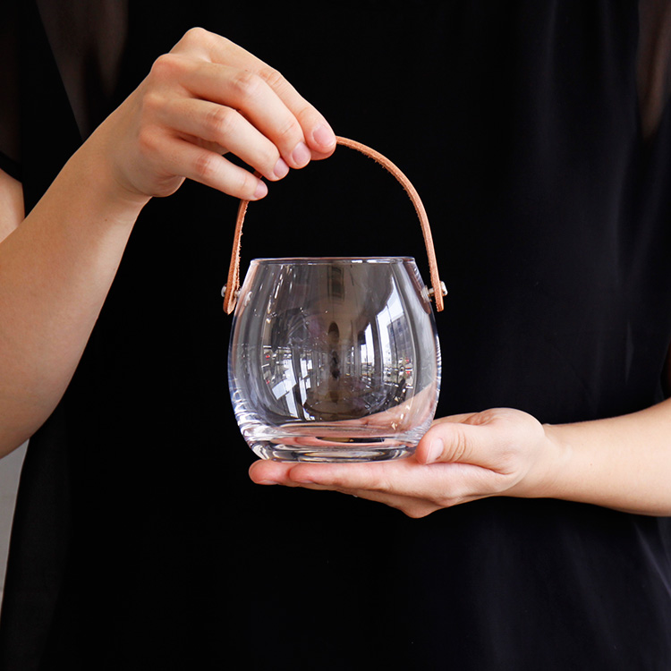 ホルムガード HOLMEGAARD Design With Light ポット クリア H10cm【フラワーベース 花器 花瓶 一輪挿し シンプル