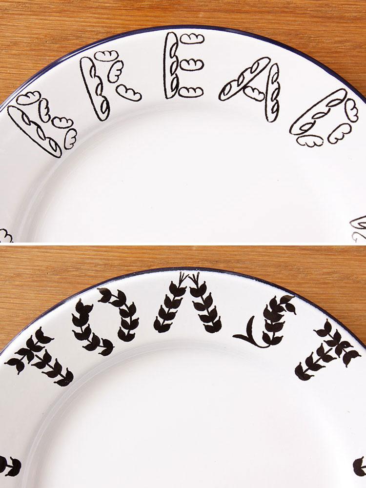 松尾ミユキ 琺瑯プレート【お皿 皿 食器 プレート 琺瑯 ほうろう 松尾 ミユキ ワンプレート パン キッチン 雑貨 カフェ かわいい 可愛い