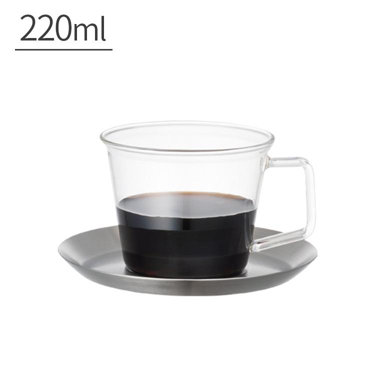 KINTO キントー CAST キャスト コーヒーカップ&ソーサーステンレス 220ml【コーヒーカップ マグカップ コップ ガラス カップ
