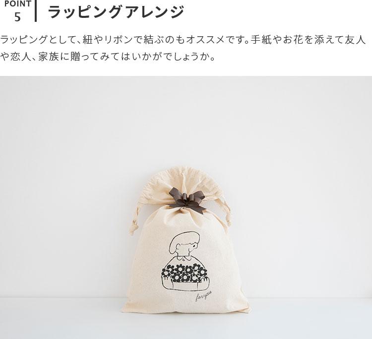 コットンバッグ Mサイズ 友澤健太郎 ラッピング ラッピング材 ラッピング用品 プレゼント 袋 巾着 小物入れ コットン イラスト ナ