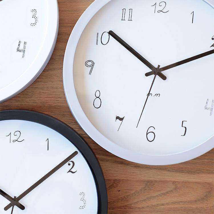 松尾ミユキ Wall clock ウォールクロック Mサイズ 25cm【松尾 ミユキ m.m 25cm 壁時計 壁掛け時計 壁掛け 掛け時計 クロック