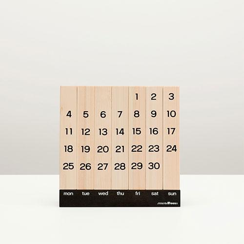more trees モア トゥリーズ 万年カレンダー【カレンダー 万年 卓上 卓上カレンダー 木製 ウッド 日本製 北欧 テイスト
