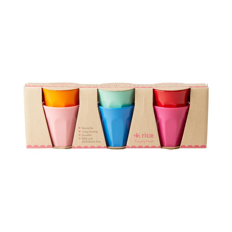 メラミンカップS 6コセット Choose Happyy ライス 食器 コップ メラミン カップ タンブラー セット キッズ 子供 北欧 デンマーク デザイナー 雑貨 おしゃれ かわいい 運動会 アウトドア 夏 フェス 結婚祝い 出産祝い 入園祝い ギフト 女性 プレゼント