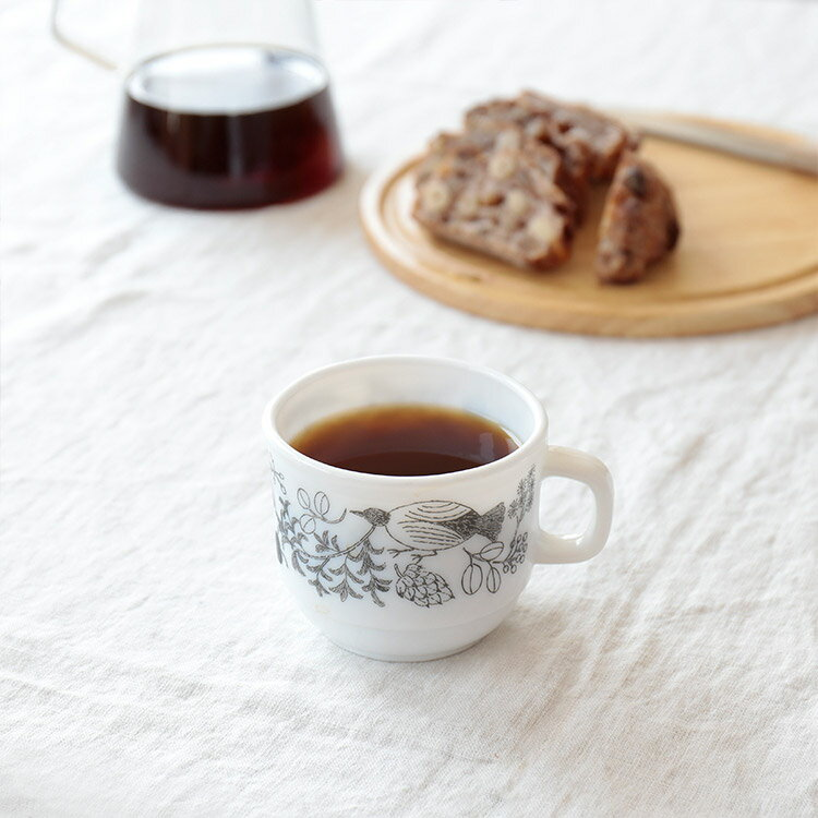 松尾ミユキ マグカップ ミルクガラス フォレスト マグ MM114【コップ 耐熱 食器 大きい コーヒー キッチン 雑貨 カフェ かわいい 動物