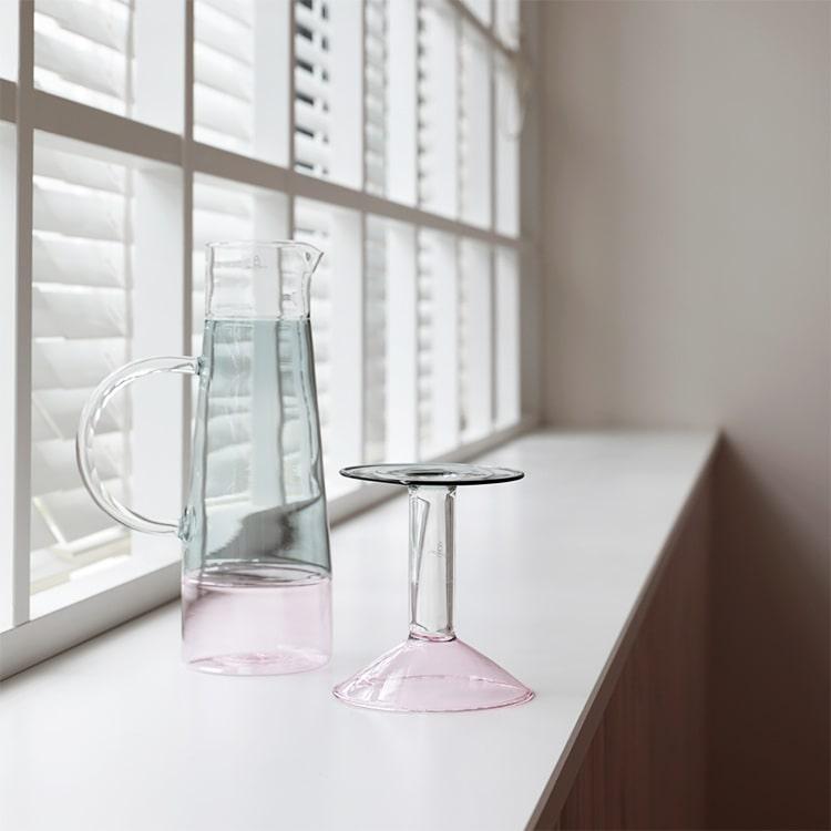 キャンドルホルダー レインボー イッケンドルフ ■ピンク・クリア・グレー ICHENDORF キャンドル 一輪挿し 花 容器 フラワーベース 花瓶 リ