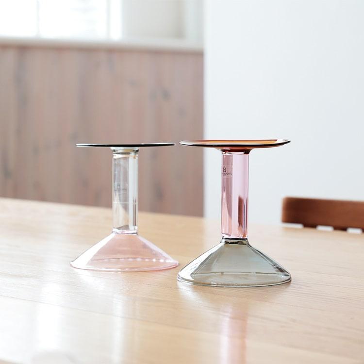 キャンドルホルダー レインボー イッケンドルフ ■グレー・ピンク・アンバー ICHENDORF キャンドル 一輪挿し 花 容器 フラワーベース 花瓶