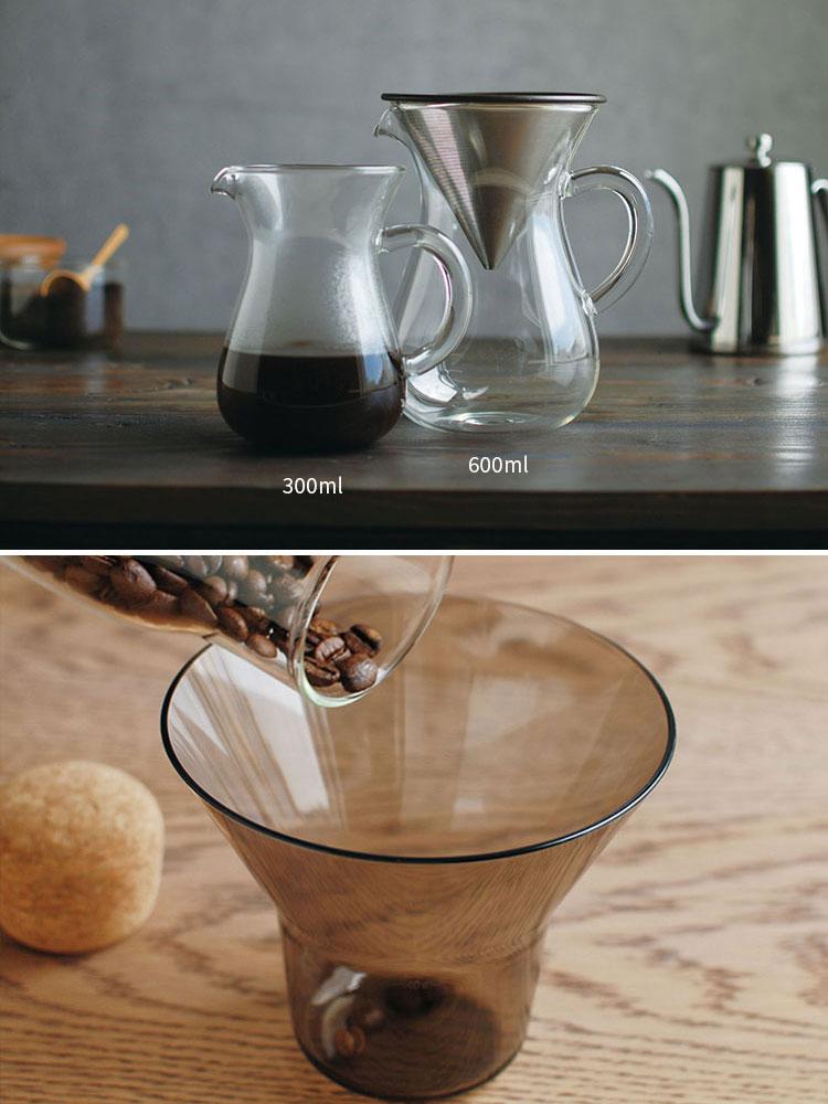 KINTO キントー SCS-04-CC-ST SLOW COFFEE STYLE コーヒーカラフェセット 600ml ステンレス【コーヒーメーカー