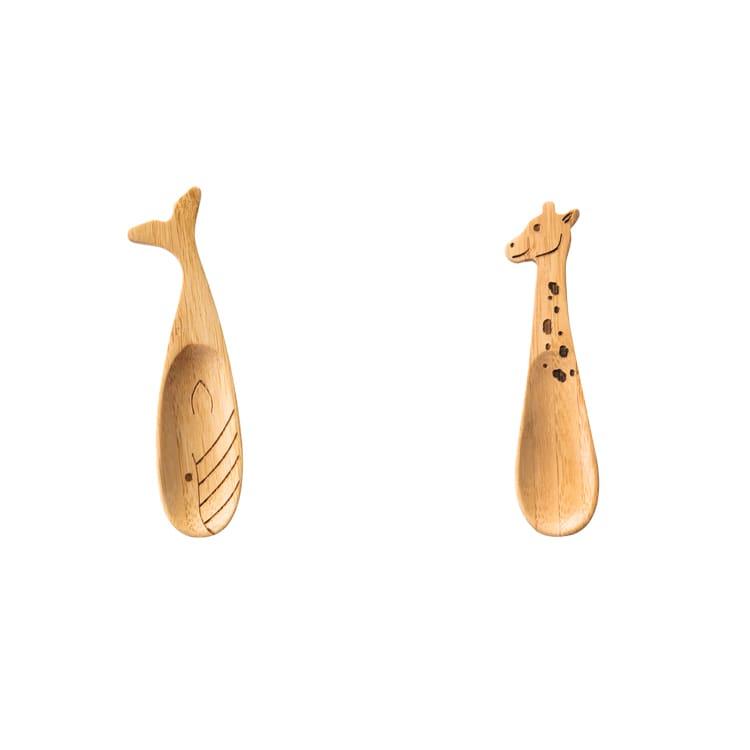 バンブースプーン 竹 竹製 スプーン 食器 動物 アニマル きりん くじら キッズ 子供 子供用 キッチン キッチン雑貨 ベビー食器