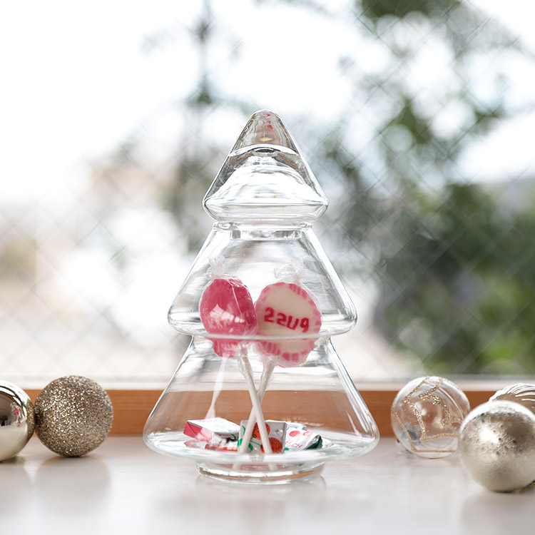 Glass Tree BOX グラスツリーボックス Sサイズ【ガラス 容器 ツリー VOLGA ヴォルガ 北欧雑貨 雑貨 インテリア プレゼント 女性 子ども ガラス雑貨 収納 小物入れ かわいい 可愛い】