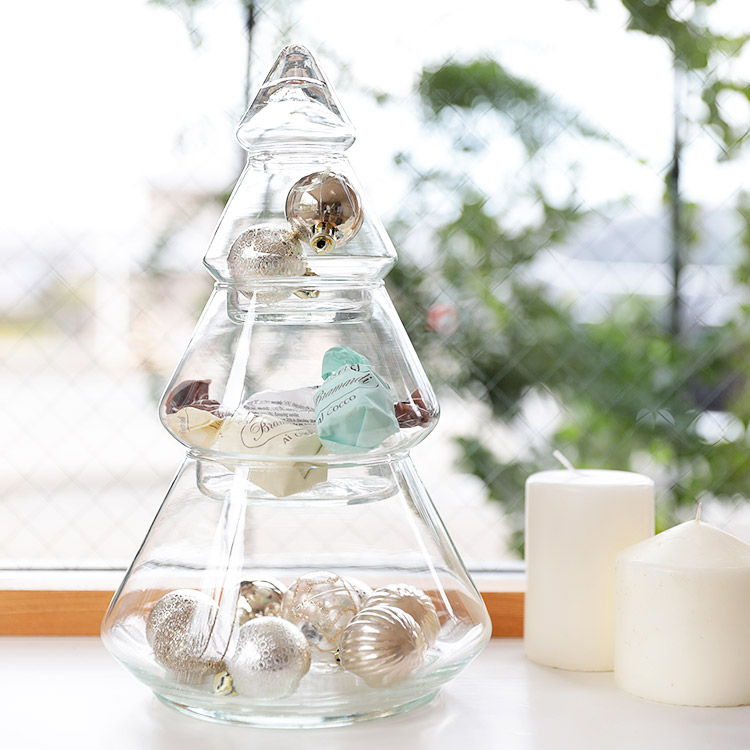 Glass Tree BOX グラスツリーボックス Lサイズ【ガラス 容器 ツリー VOLGA ヴォルガ 北欧雑貨 雑貨 インテリア プレゼント 女性 子ども ガラス雑貨 収納 小物入れ かわいい 可愛い】