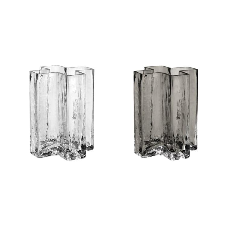 クロスベース 12cm HOLMEGAARD ホルムガード フラワーベース 花器 花瓶 一輪挿し シンプル ガラス