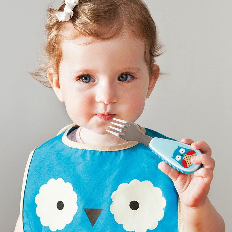 アニマル・フォーク&スプーンセット スキップホップ SKIP HOP【フォーク スプーン カトラリー セット 子供食器 ステンレス お弁当 赤ちゃん