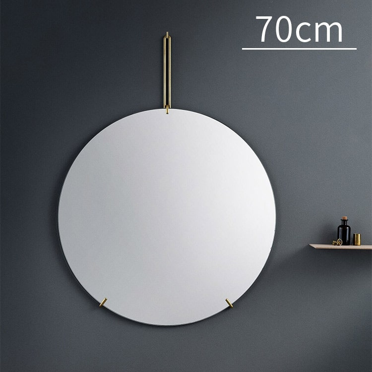 WALL MIRROR ウォールミラー 70cm MOEBE ムーベ ミラー 鏡 壁掛け 壁 ノンフレーム インテリア インテリア雑貨 円形 まる 丸