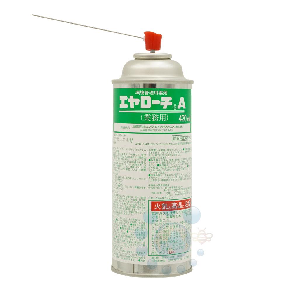 ゴキブリ駆除用即効 持続タイプの殺虫剤エヤローチA 420ml×24本※ケース購入でお買得!【送料無料】