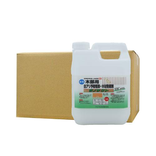 シロアリ 白あり 木部用 白アリ予防駆除 木部防腐剤 水性 ジノテクト 木部用 1.6L×6 オレンジ ケミプロ化成