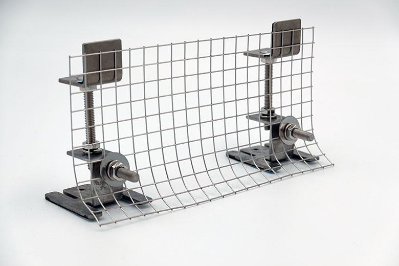 太陽光パネル鳥害対策 バードブロッカー 伸縮金具 皿ネジ4本セット 屋外用強力両面テープ付