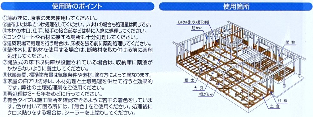シロアリ 白あり 木部用 白アリ予防駆除剤 木材防腐剤 水性  ジノテクト 木部用3.2L×2 オレンジ ケミプロ化成
