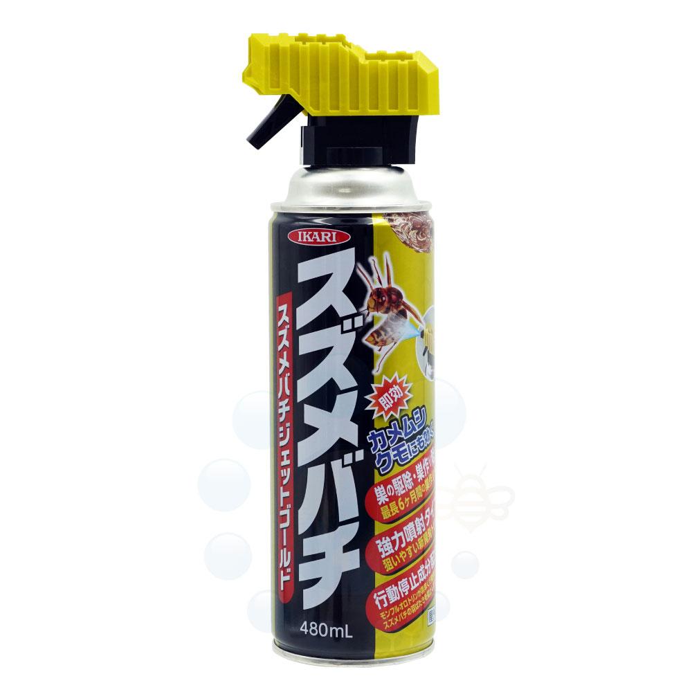 イカリ消毒 スズメバチジェットゴールド 480ml カメムシ クモ退治