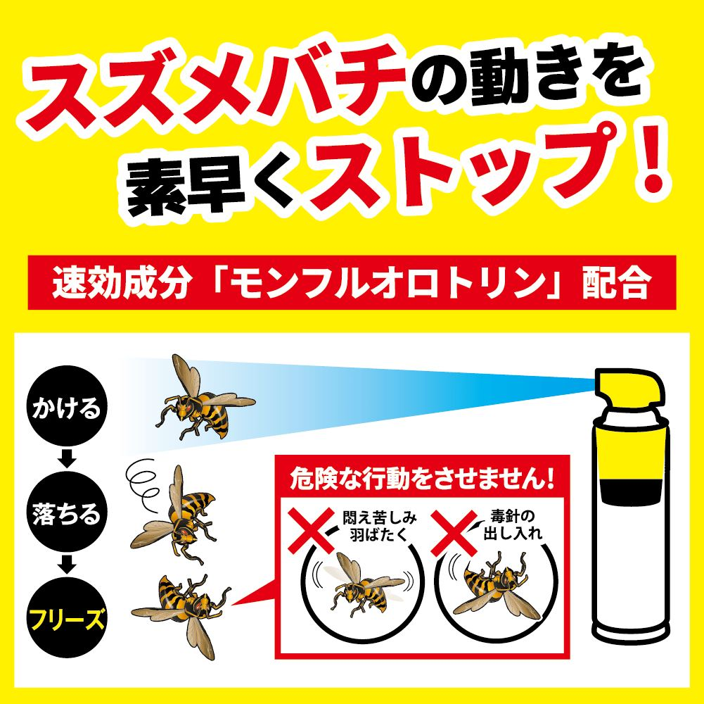 スズメバチ駆除 金鳥 プロ用ハチ駆除剤 510ml×2本 ハチの巣駆除 害虫駆除業者専用
