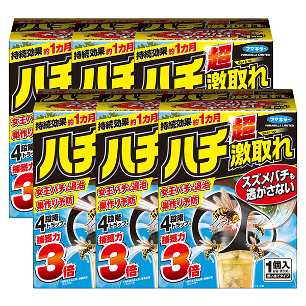 フマキラー ハチ超激取れ 1個入×6個