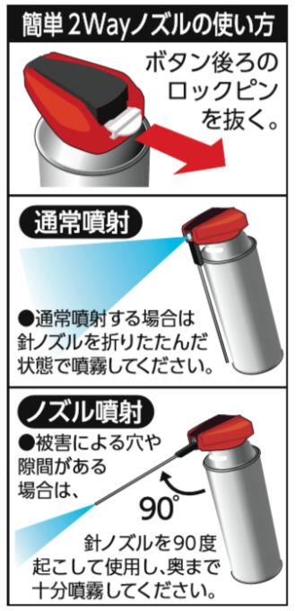 シロアリ駆除 ムシクリン シロアリ木部用エアゾール×6本 木部専用 防腐剤配合