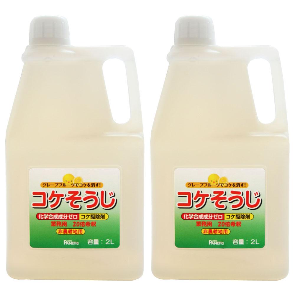 コケ駆除剤 コケそうじ 業務用濃縮液 2L×2本[非農耕地用]