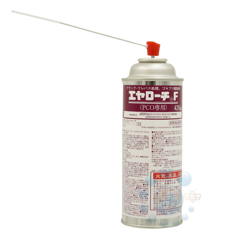 安全性の高いゴキブリ駆除剤 トコジラミ駆除 エヤローチF 420ml 24本/ケース【送料無料】