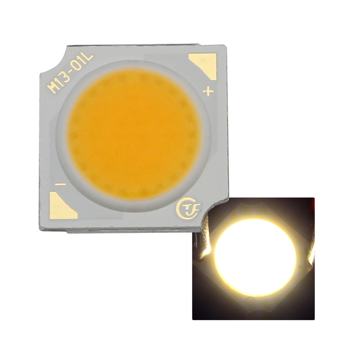 8437(1個) COB 1313 10W LEDモジュール 電球色 30-34V 320mA 3000-3200K 110-120lm 80Ra