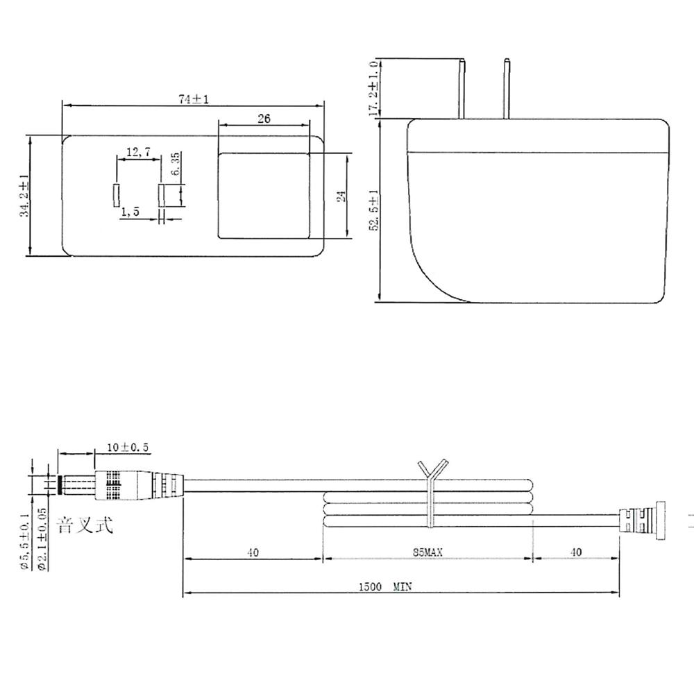 6761(1個) ACアダプタ【安心の1年保証】 1A AC100V-DC24V MKS-2401000 Merryking製 (PSEマーク付/RoHS対応/プラスチック製)