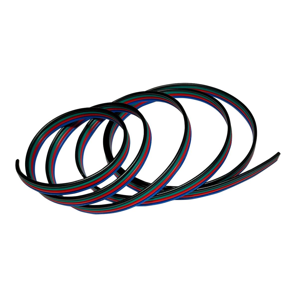 6173(1本) AWG22 電線 [5m] RGB 4芯ケーブル (青・赤・緑・黒)