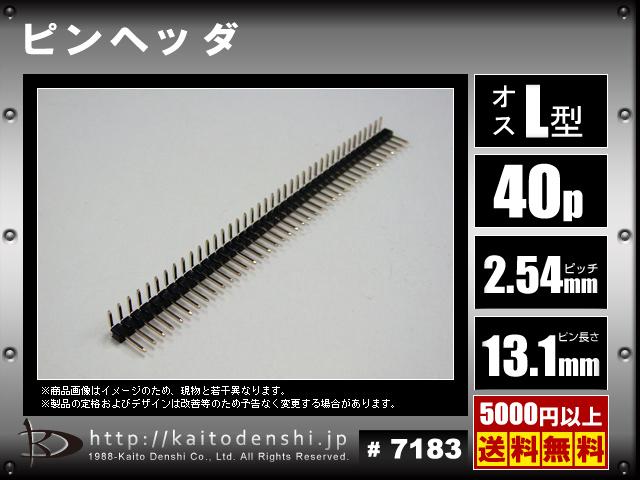 Kaito7183(10個) L字 ピンヘッダ 標準サイズ 40ピン