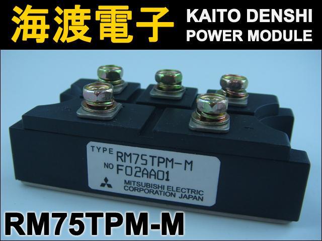 RM75TPM-M (1個) パワーダイオードモジュール〉 MITSUBISHI 【中古】