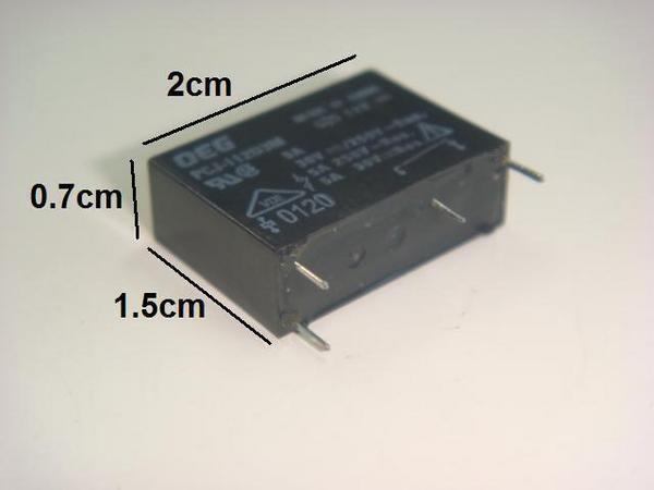 Kaito7483(1000個) リレー 12V PCJ-112D3M 5A [TE Connectivity:OEG]