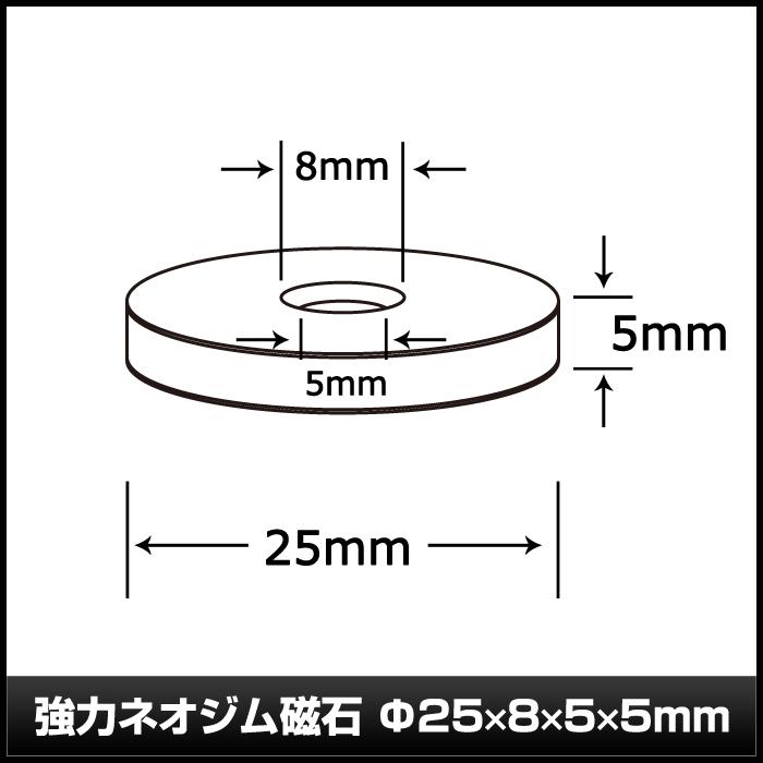 Kaito7109(10個) 強力ネオジム磁石  25×8×5×5mm