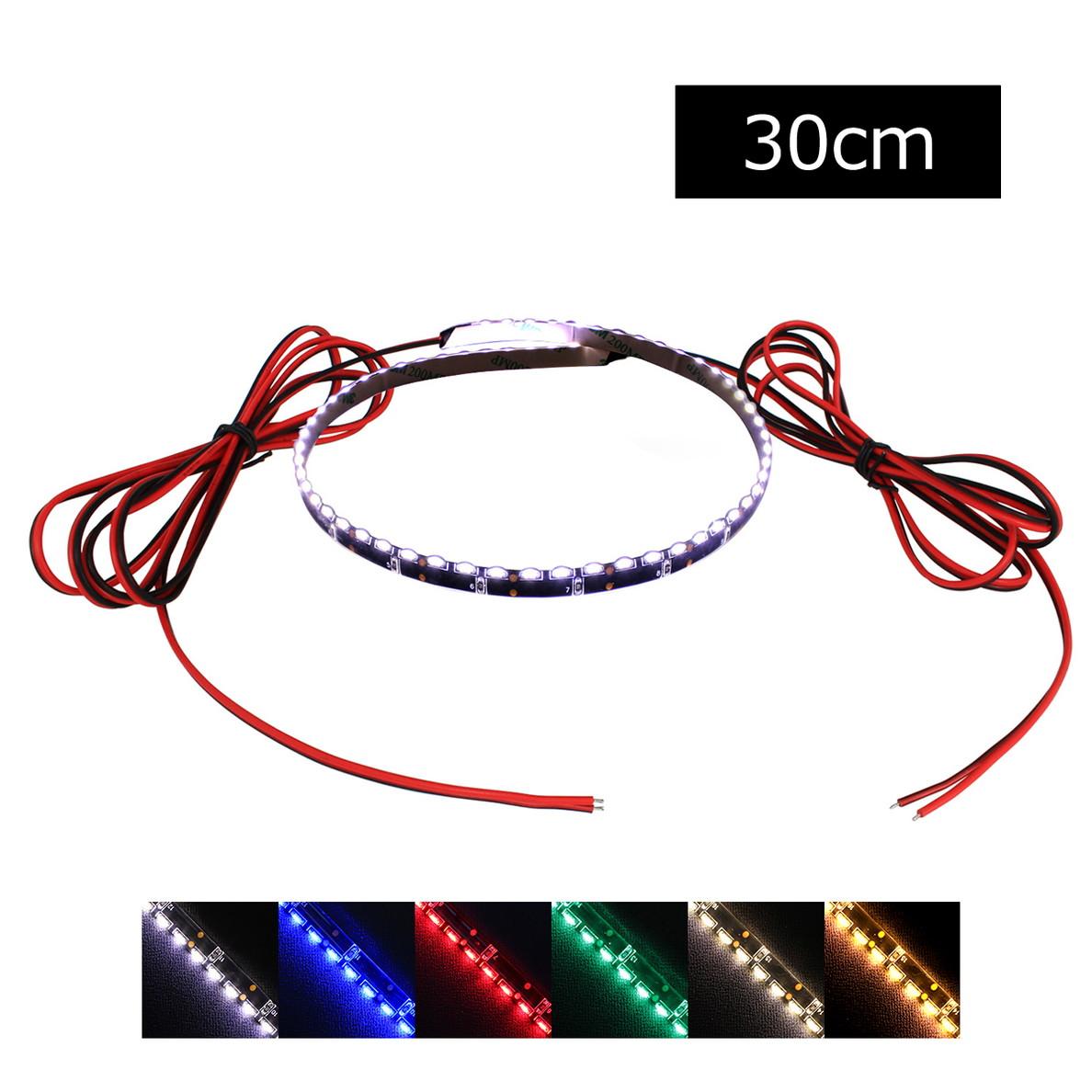 側面発光12V(1本) 防水 8mm LEDテープライト 1チップ 30cm (120LED/m) 両端子 [黒ベース]