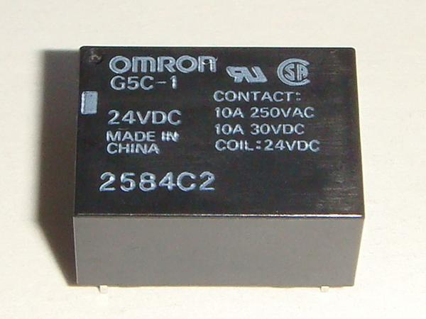 Kaito7480(100個) リレー 24V G5C-1 [OMRON]