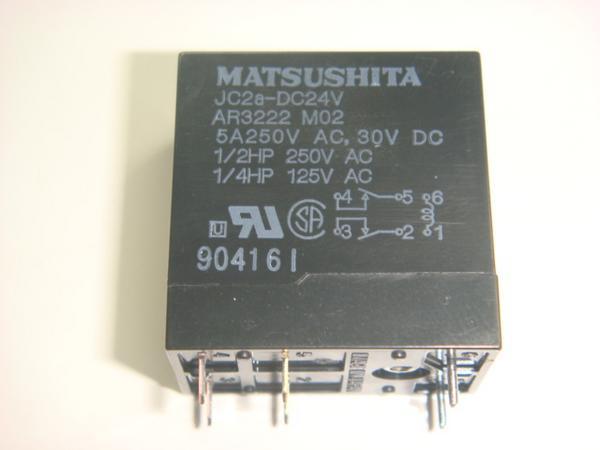 Kaito7487(1個) リレー 24V JC2a-DC24V 5A [MATSUSHITA]