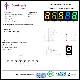 3294(1個) 黄緑色 7セグメント LED表示器 アノードコモン 571nm (OSL10564-IYG) OptoSupply