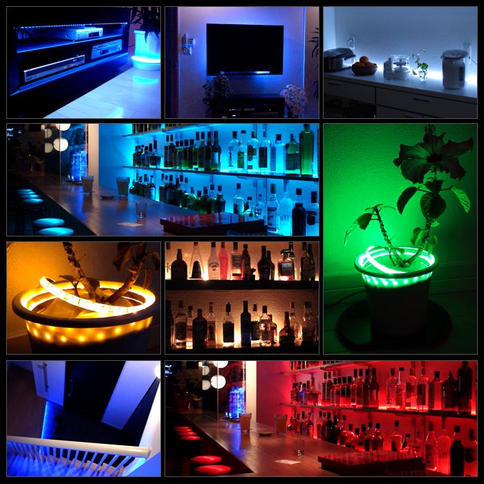 【ハイクオリティ】防水 LEDインテリアテープライト(RoHS対応) 3チップ 単体 (100V/12V兼用) 15cm