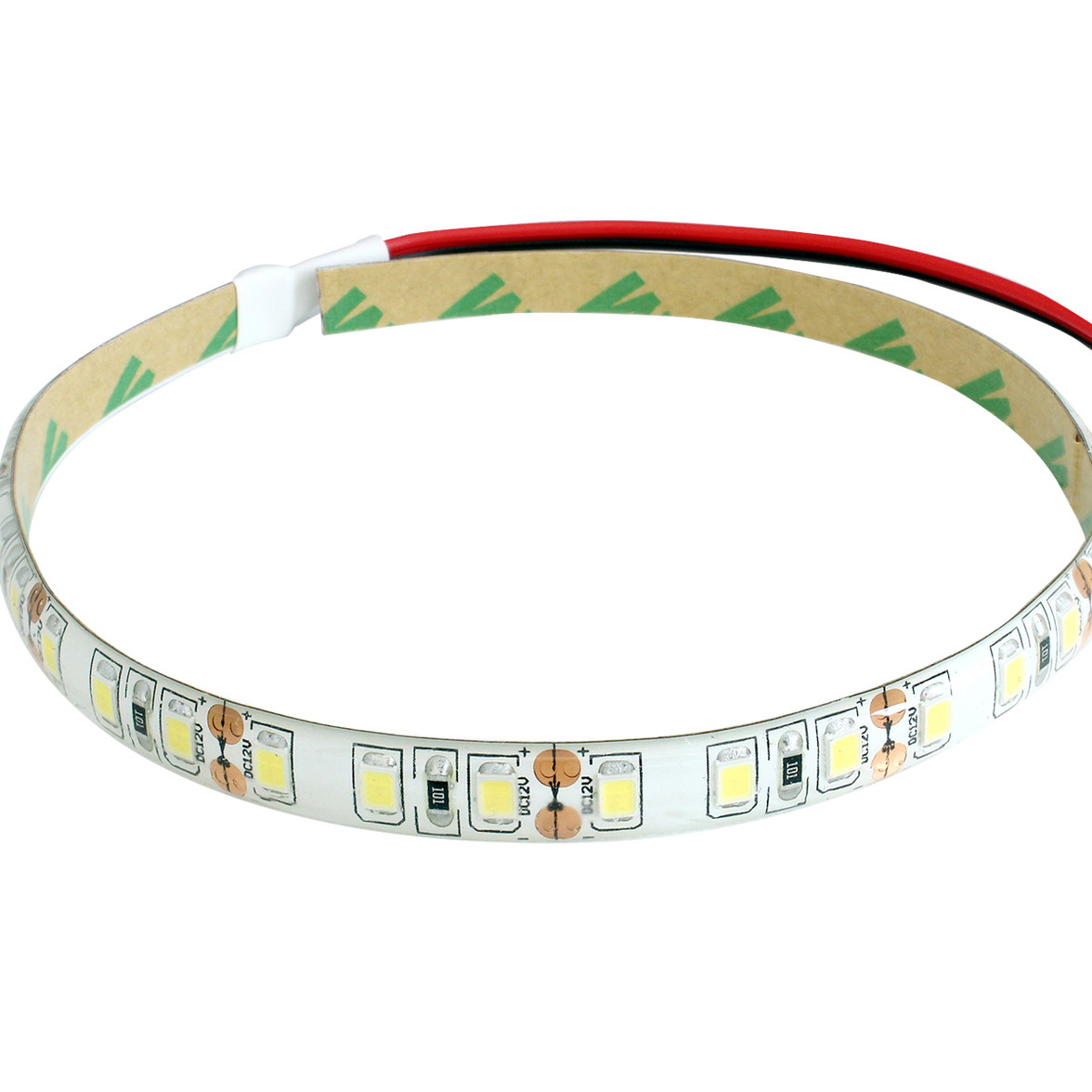[15cm×10本] 高密度(120LED/1M) 12V LEDテープライト 防水 白ベース