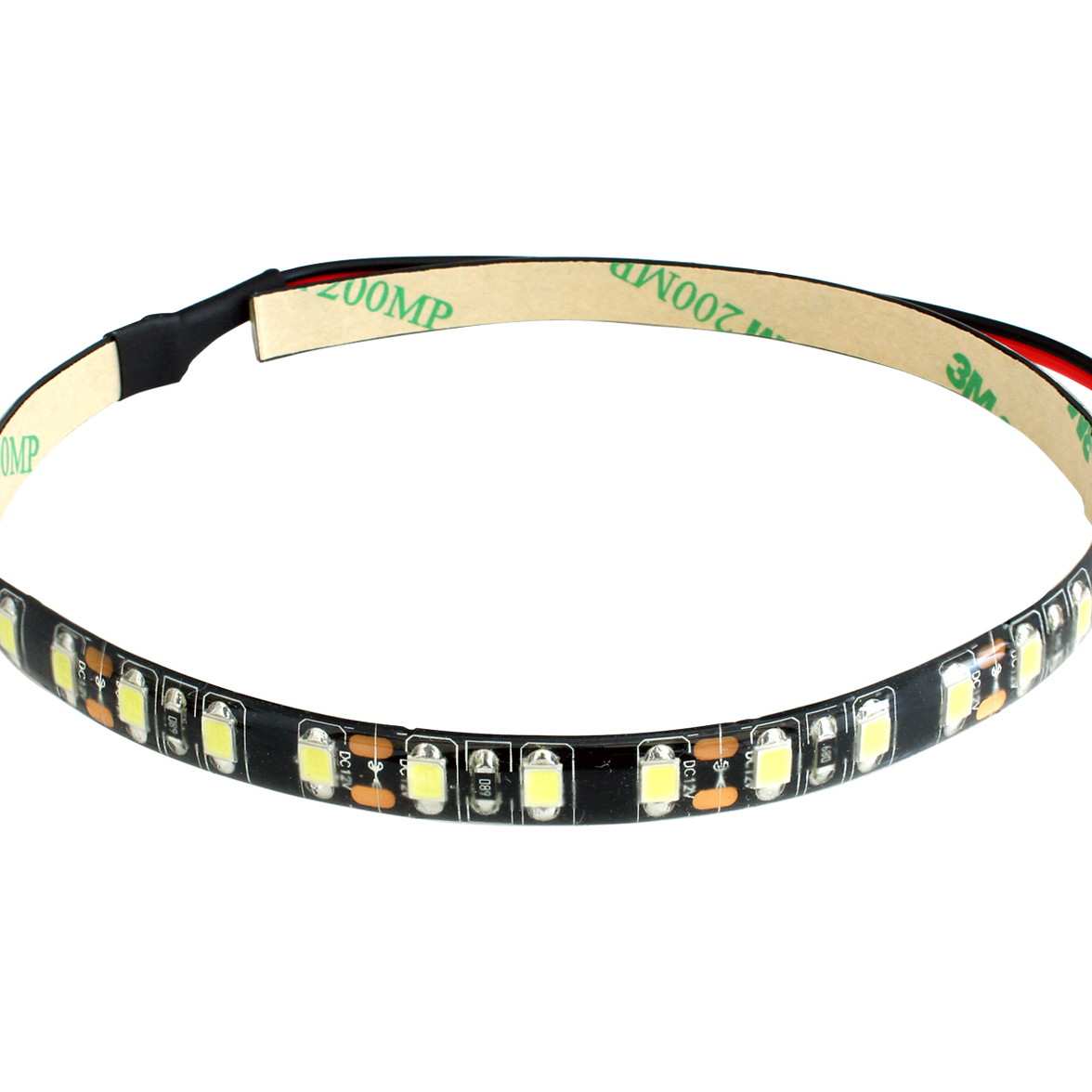 [10cm×2本] 高密度(120LED/1M) 12V LEDテープライト 防水 黒ベース