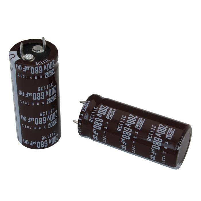 [s074] 電解コンデンサー 200V 680uF 50x22 [NCC] (10個)