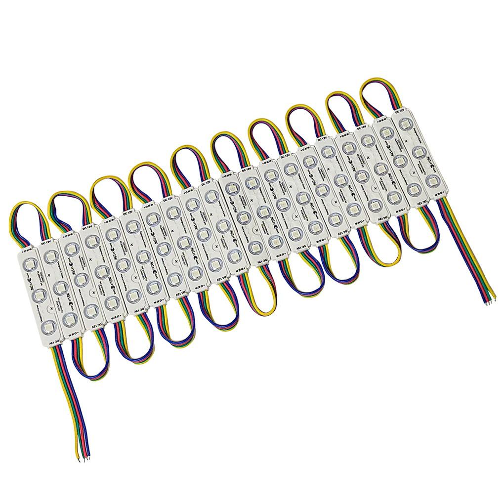 8906(20連×100pack) 生活防水 3LEDモジュール 12V RGB フルカラー 5050 白ベース