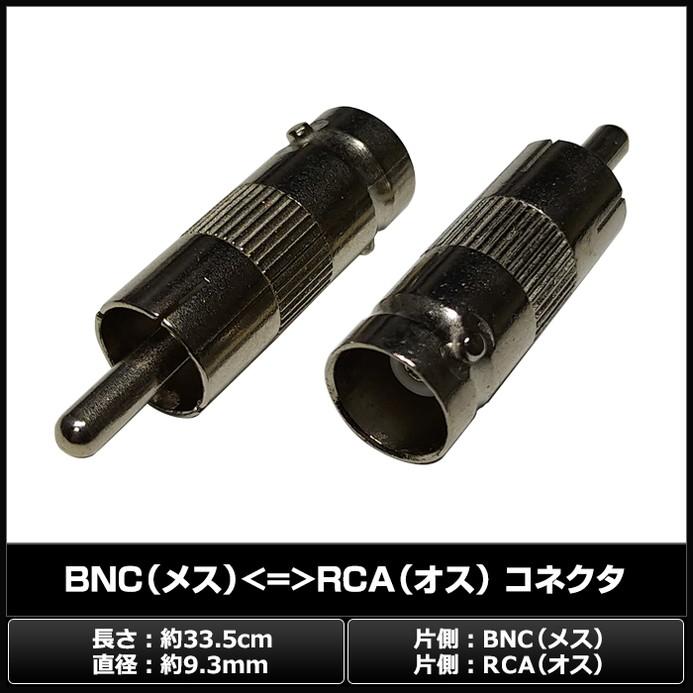 0412(10個) BNC(メス) ⇔ RCA(オス) コネクタ