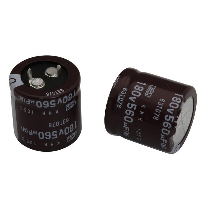 [s079] 電解コンデンサー 180V 560uF 25x25 [NCC] (10個)