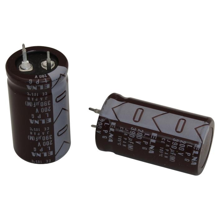 [s080] 電解コンデンサー 200V 390uF 40x22 [ELNA] (10個)