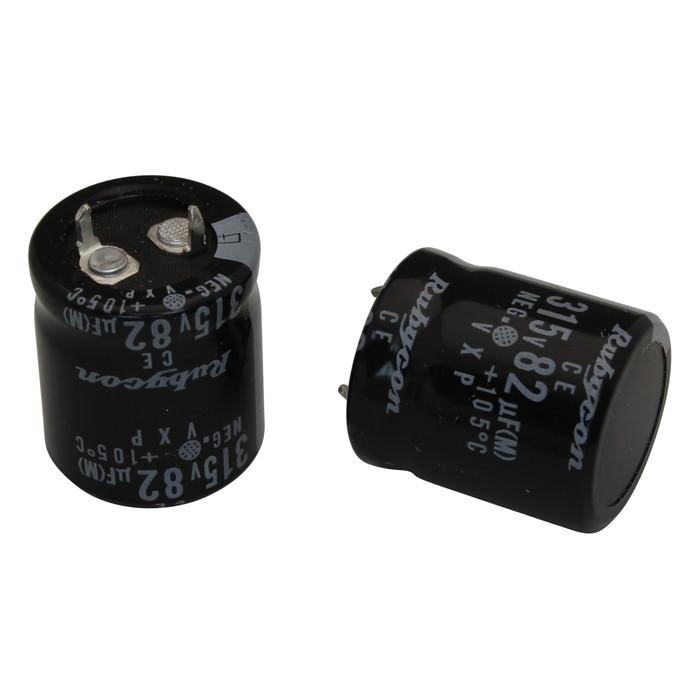 [s085] 電解コンデンサー 315V 82uF 25x22 [Rubycon] (10個)